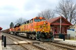BNSF 5687 east bound passing through Plano, IL